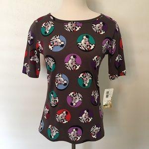 NWT Lularoe Disney Villians Shirt Size Small
